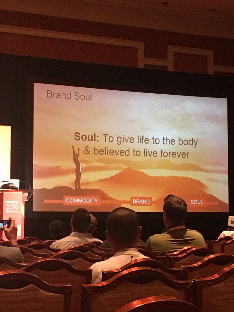 1JuanErnesto: Another fantastic trailblazer #ecommerce story from @BobSchwartz on building a soulful brand at #MagentoImagine https://t.co/nOc05WXB6M