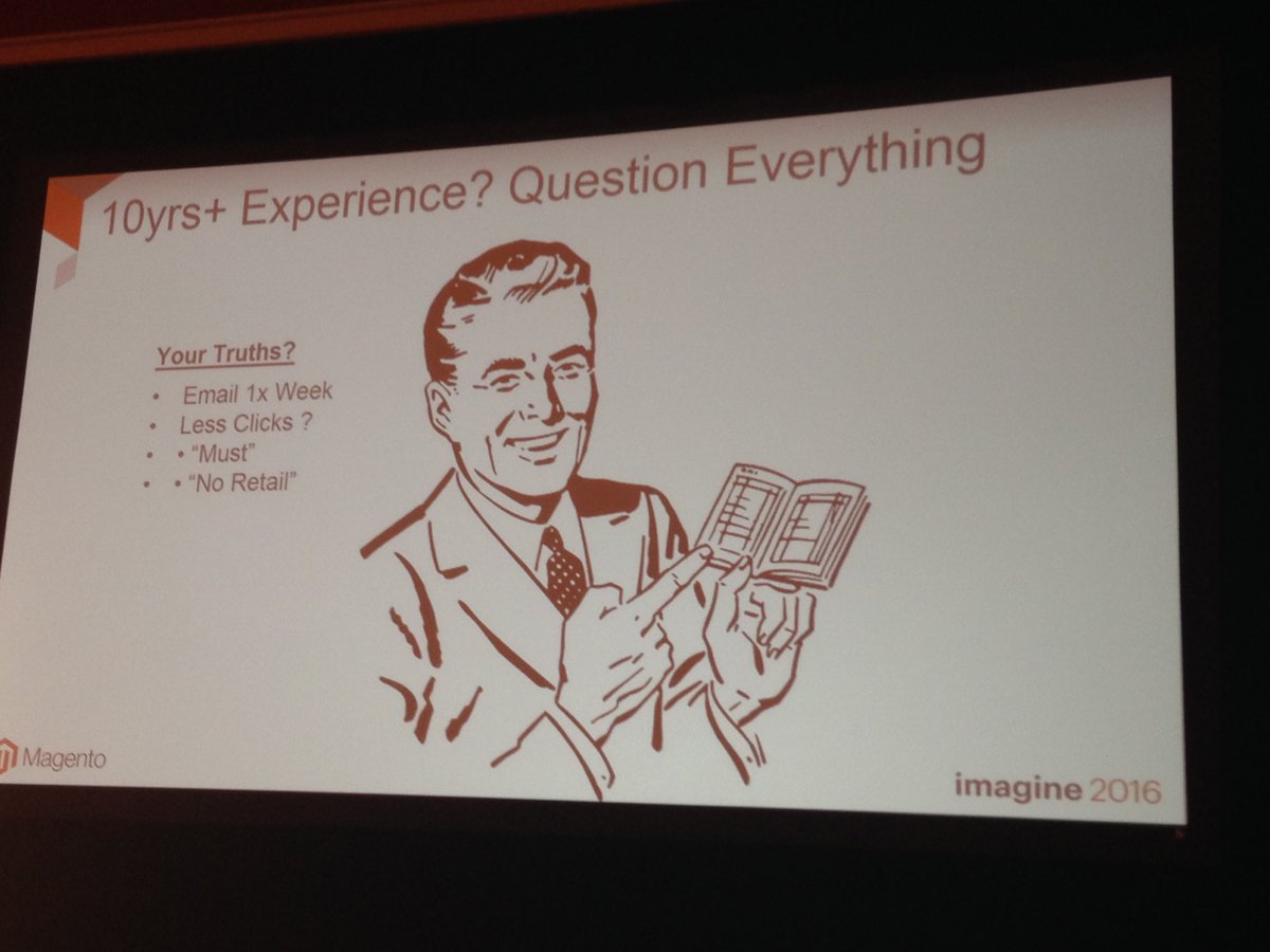 SheroDesigns: 10yrs+ experience? #ecommerce #innovate and never stop asking questions #trailblazer  #magentoimagine @BobSchwartz https://t.co/a6YURjt3tF