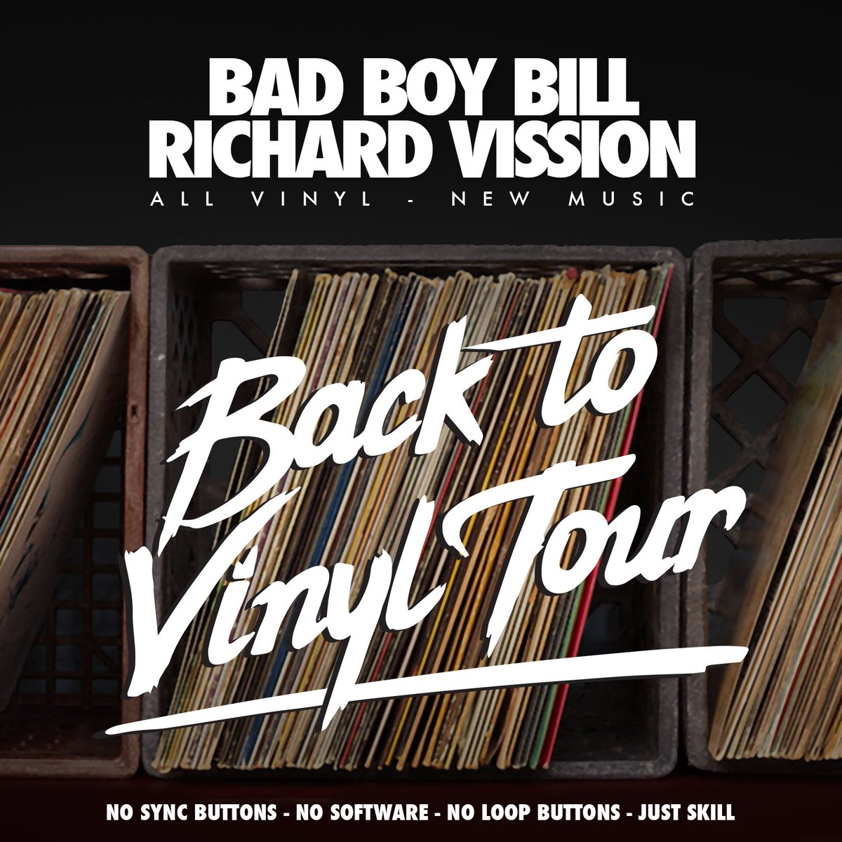 .@RichardVission & I decided to have fun this summer & put some of the challenge back into DJ'ing #BackToVinylTour https://t.co/9iKNKET1kZ