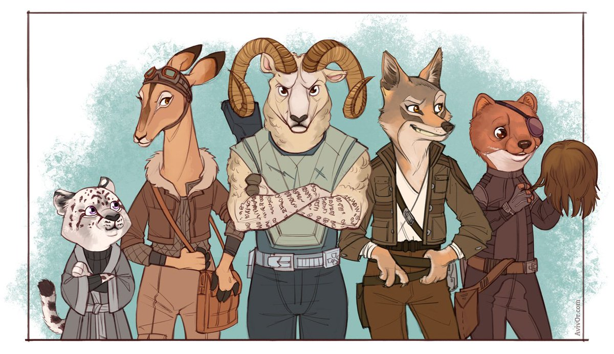 After watching #Zootopia, this was inevitable, really. The crew of the Mynock - furry form! @campaignpod https://t.co/gT1snJMRHB