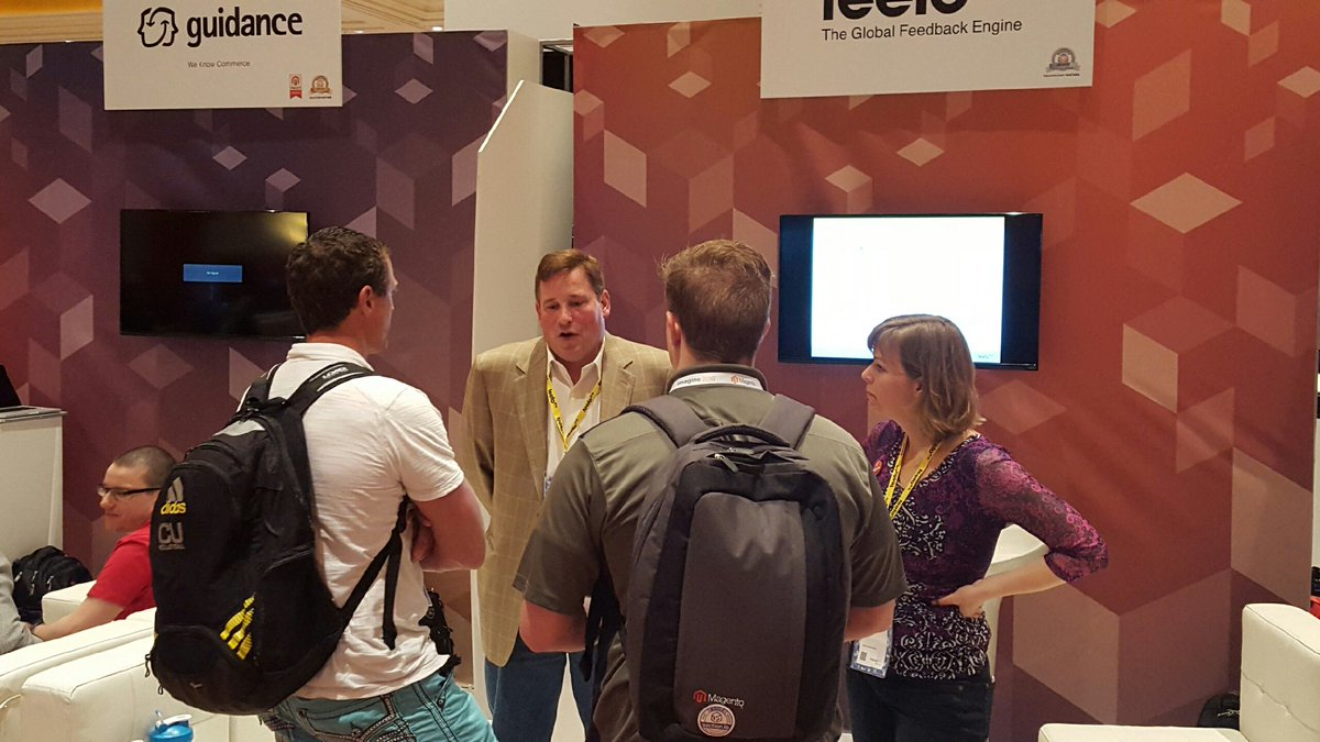 Feefo_Official: #MagentoImagine is in full swing @FeefoUsa is busy at  #419. Stop by to learn about increasing sales with reviews!! https://t.co/7QjQWCUEKn