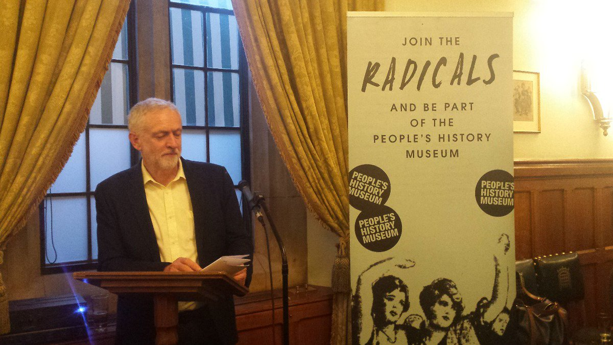 A moving speech from @jeremycorbyn, encouraging everybody to support the museum in anyway they can https://t.co/zsUL3nPdZK