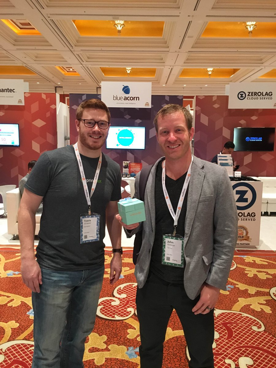 springbot: Congrats to John from @CarvedLLC for winning a @WonderWoof at #MagentoImagine #UniteYourMarketing https://t.co/EDq8W98V1X
