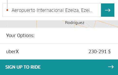 Uber del centro hasta el aeropuerto de Ezeiza: $230-$290 (un taxi cuesta $475-$500) https://t.co/gv5FhxIZqH