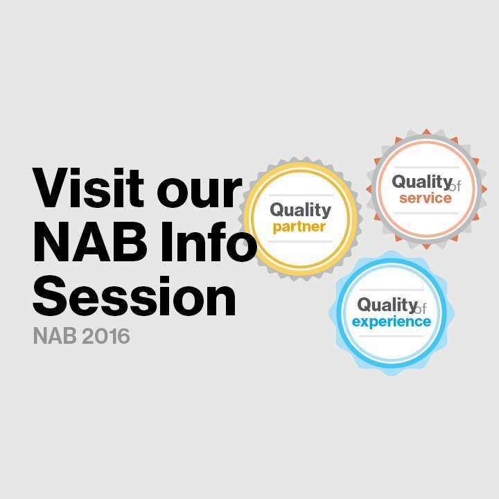 Engage viewers on every screen! Find out how during our info session @ #NABShow https://t.co/pPbChAdhdw #FutureMaker https://t.co/vmbQULnGKx