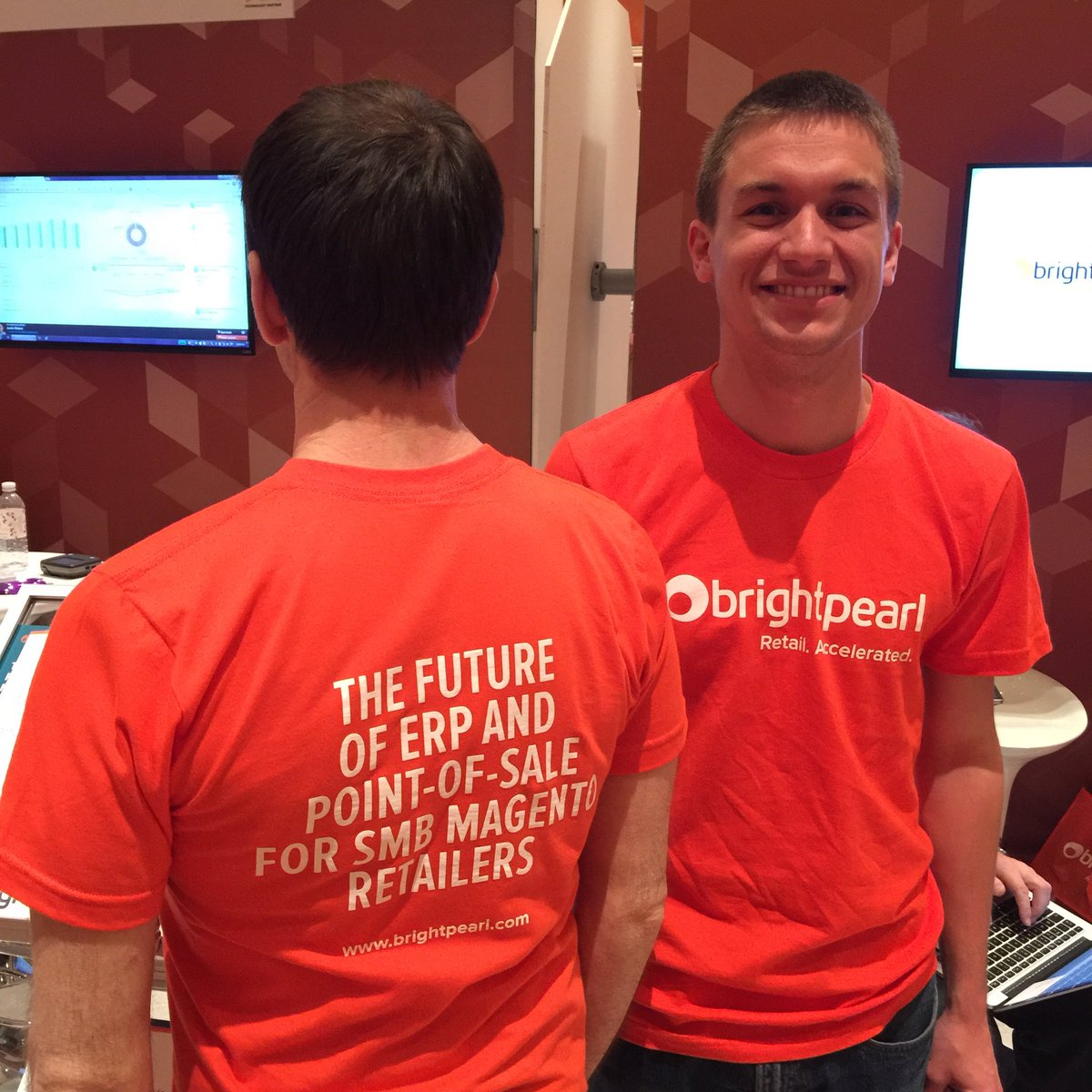 BrightpearlHQ: We have some limited edition #MagentoImagine Brightpearl t-shirts to give away on our booth.First come first served! https://t.co/A9IYSaDxef