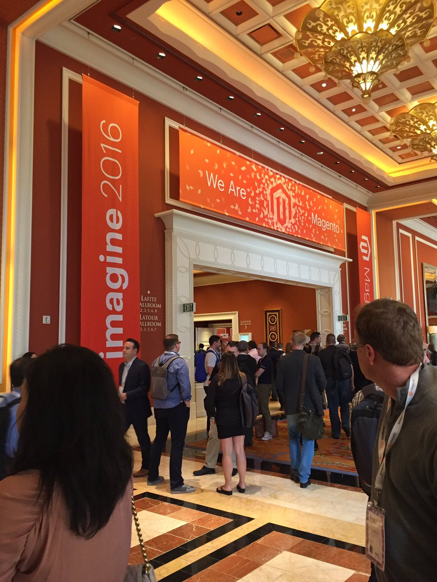 KFlogood: All the individuals that make up Magento come together here. #MagentoImagine https://t.co/892iF3S9XB