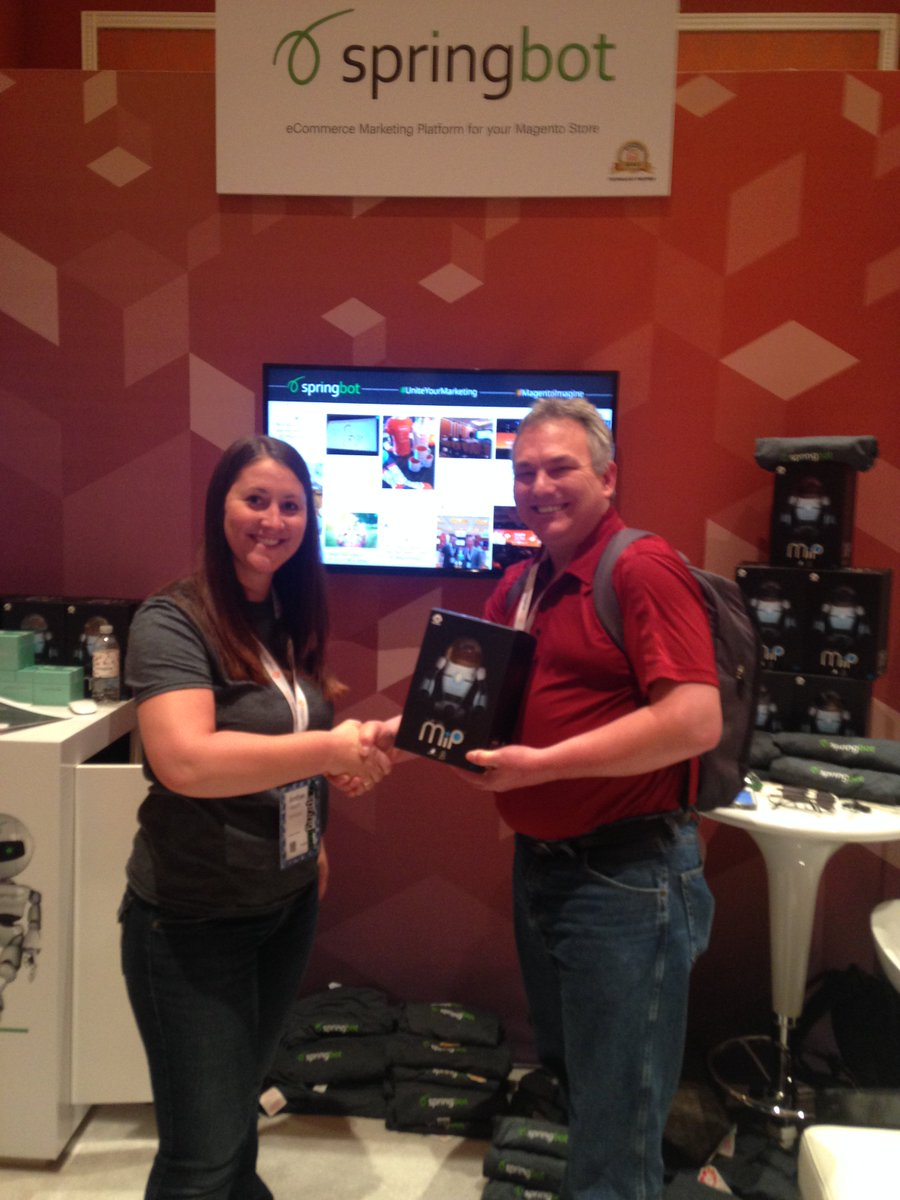 springbot: Congrats to Gerald from @SUCCESSPartners on winning a @WowWeeWorld at #MagentoImagine #UniteYourMarketing https://t.co/ACbE9dkQxo