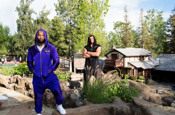 Odell Beckham Jr And @RobGronkowski Stuntinu0027 In Jumpsuits At Drakeu0027s House  It Appears.