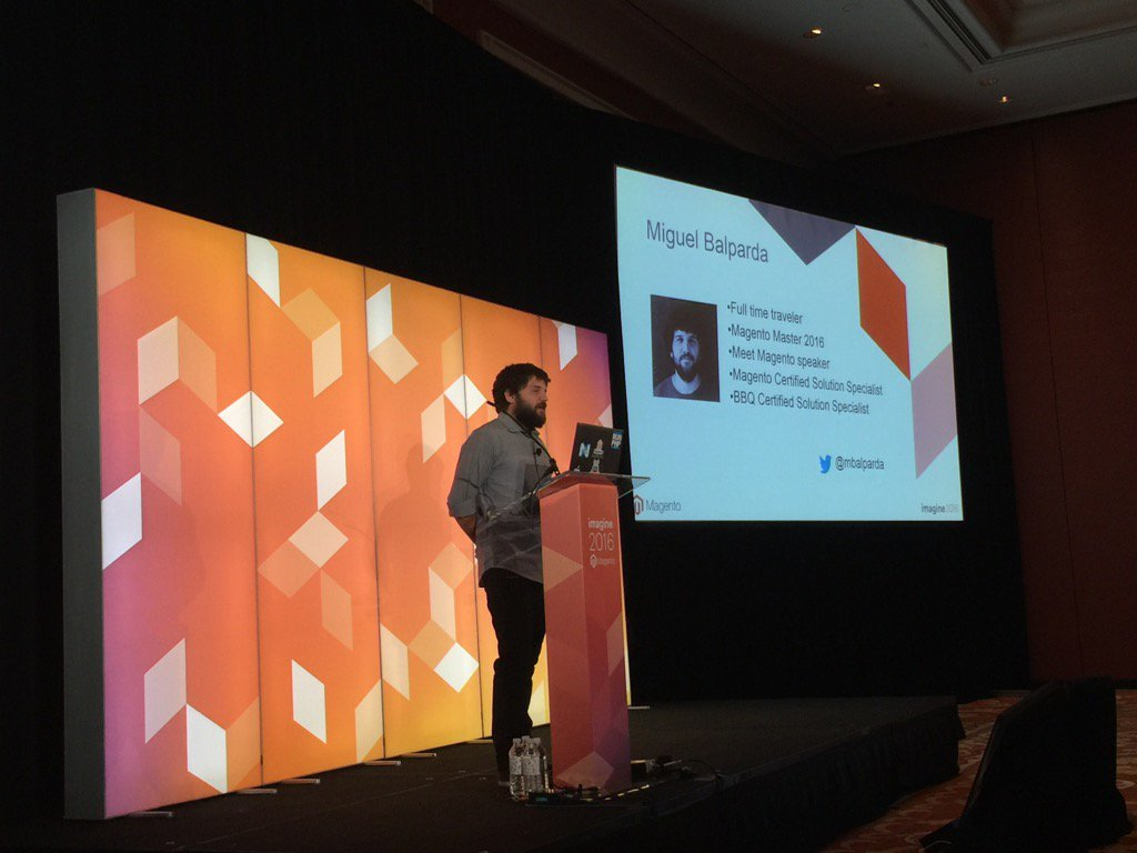 Blue_Bovine: @mbalparda #MagentoImagine #RealMagento @nexcess Miguel walks is through m2 best performance practices! https://t.co/veiYlMYRDd