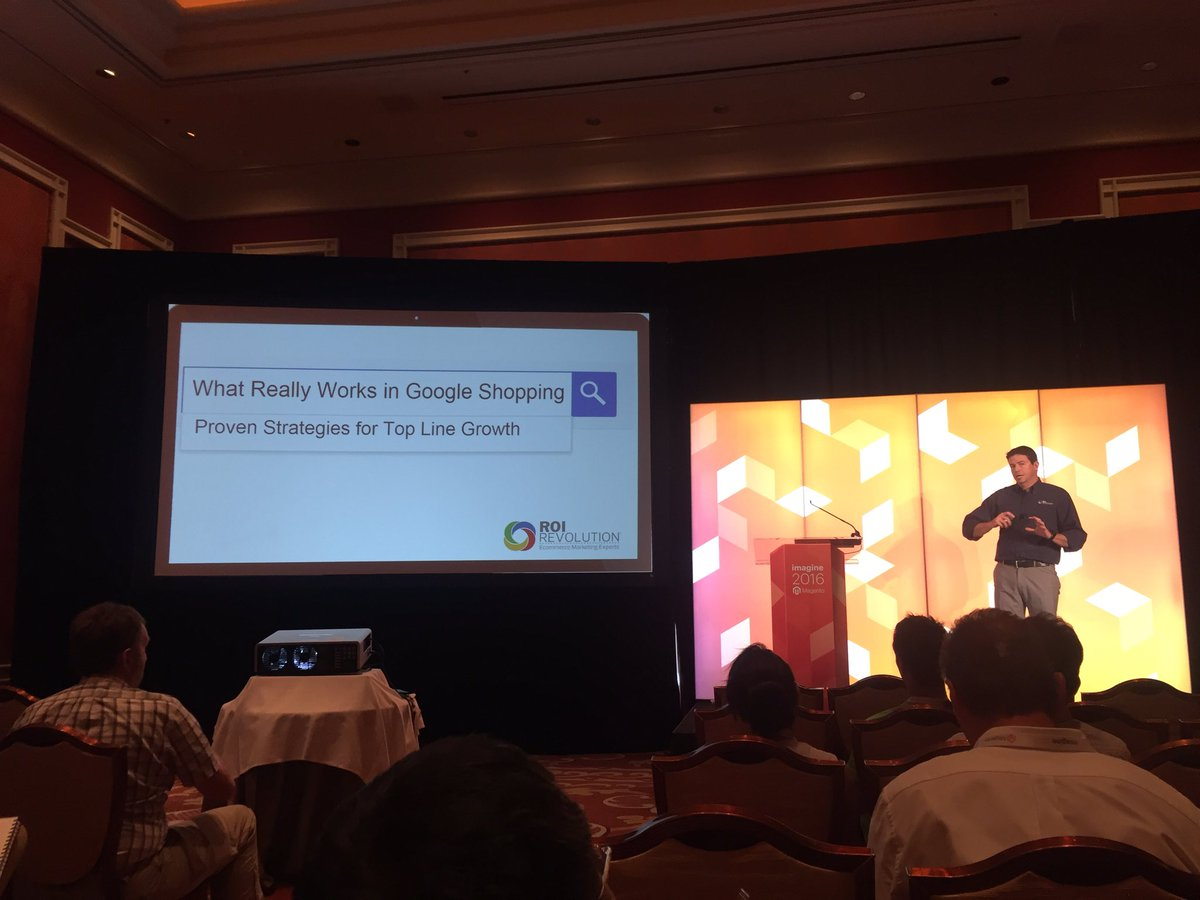 vaimoglobal: ROI Director Denis Coombes talks Google Shopping at #MagentoImagine #Vaimo @ROIRevolution https://t.co/aRoyuIeaQS