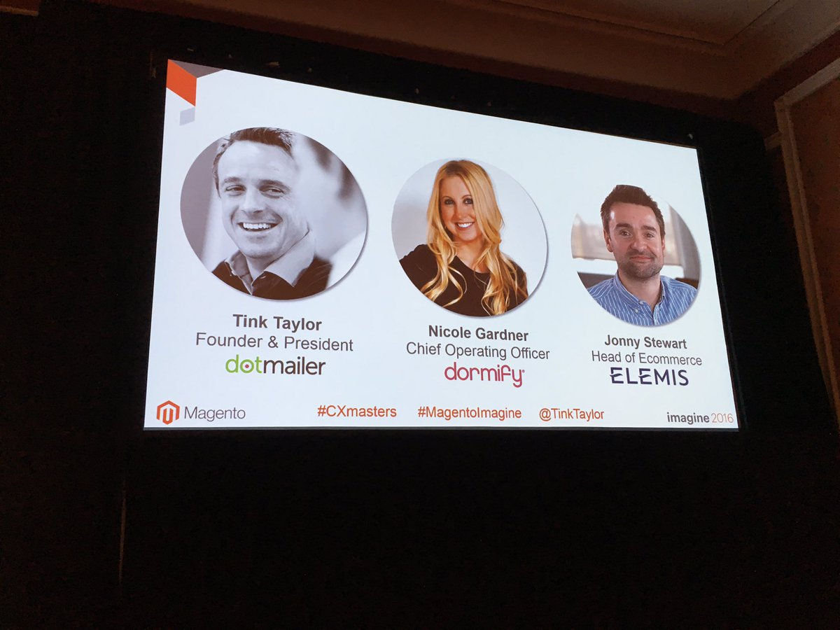 dotmailer: Merchant Panel: come find out what CX means to @Elemis and @dormify #magentoimagine https://t.co/tgKkbOZzPC
