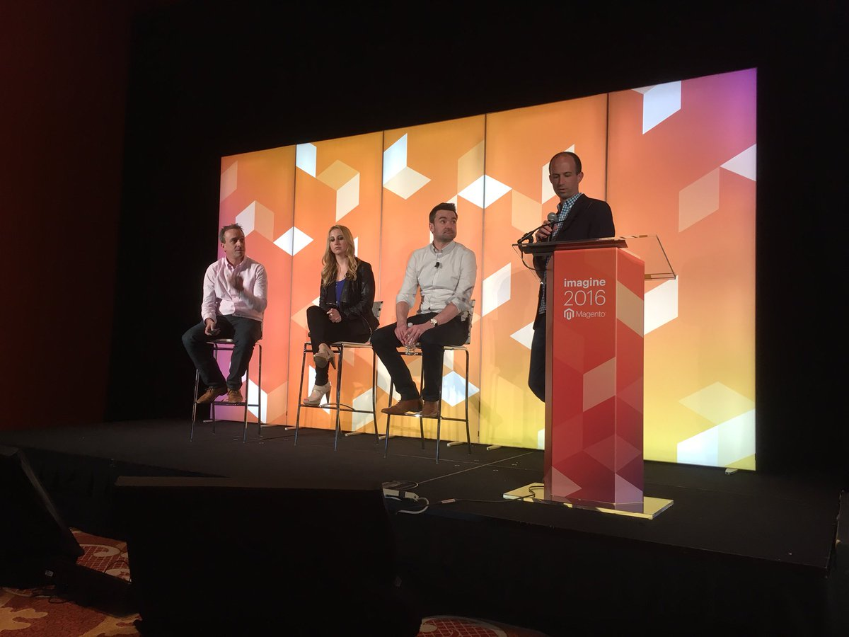 brettwillis: Great client discussion on customer experience & how email automation is at the heart @dotmailer #MagentoImagine https://t.co/bVO7TmWDHT