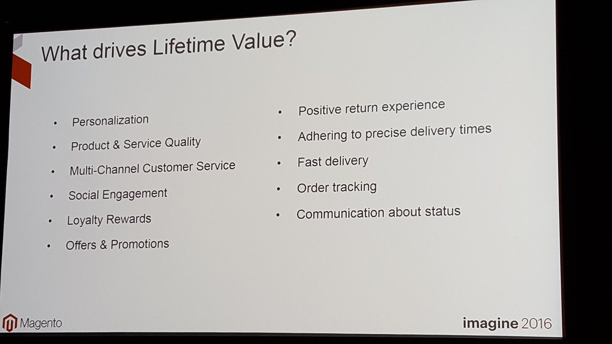 mgoldman713: What drives lifetime value for merchants? ERP #MagentoImagine https://t.co/fdpEmBvQYy