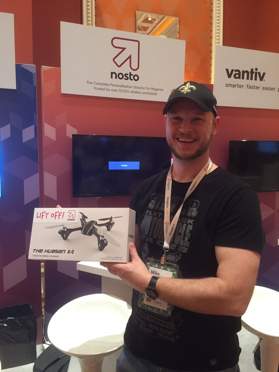 NostoSolutions: Congrats to our latest winner-Mike Girardin from @silverjeansco! #MagentoImagine #Imagine2016 https://t.co/1F3bmPjlok
