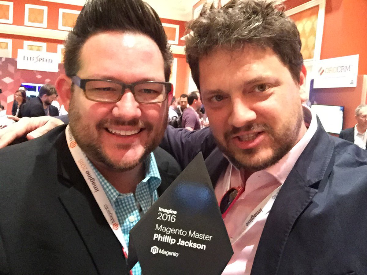 ignacioriesco: Congrats @philwinkle for this award. #MagentoMasters #MagentoImagine https://t.co/eppXvk3Wzl