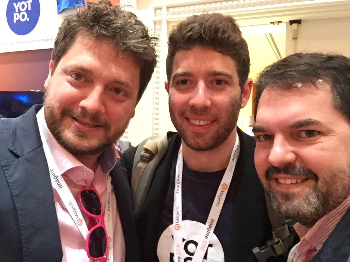 ignacioriesco: Great to see my friends from @Yotpo again. Glad to see new awesome features coming up. #MagentoImagine https://t.co/EUfro4MWsA