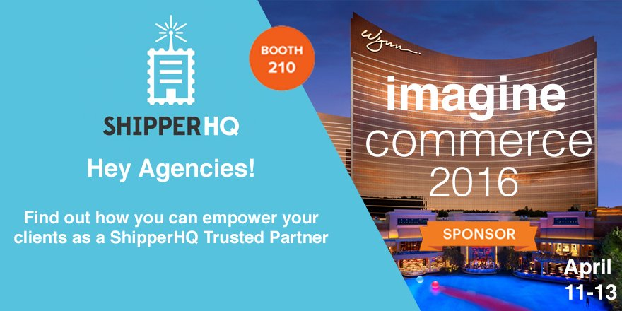 ShipperHQ: Hey Agencies! Talk to our team about becoming a @ShipperHQ Trusted Partner. #MagentoImagine https://t.co/p9BxF9CgI6