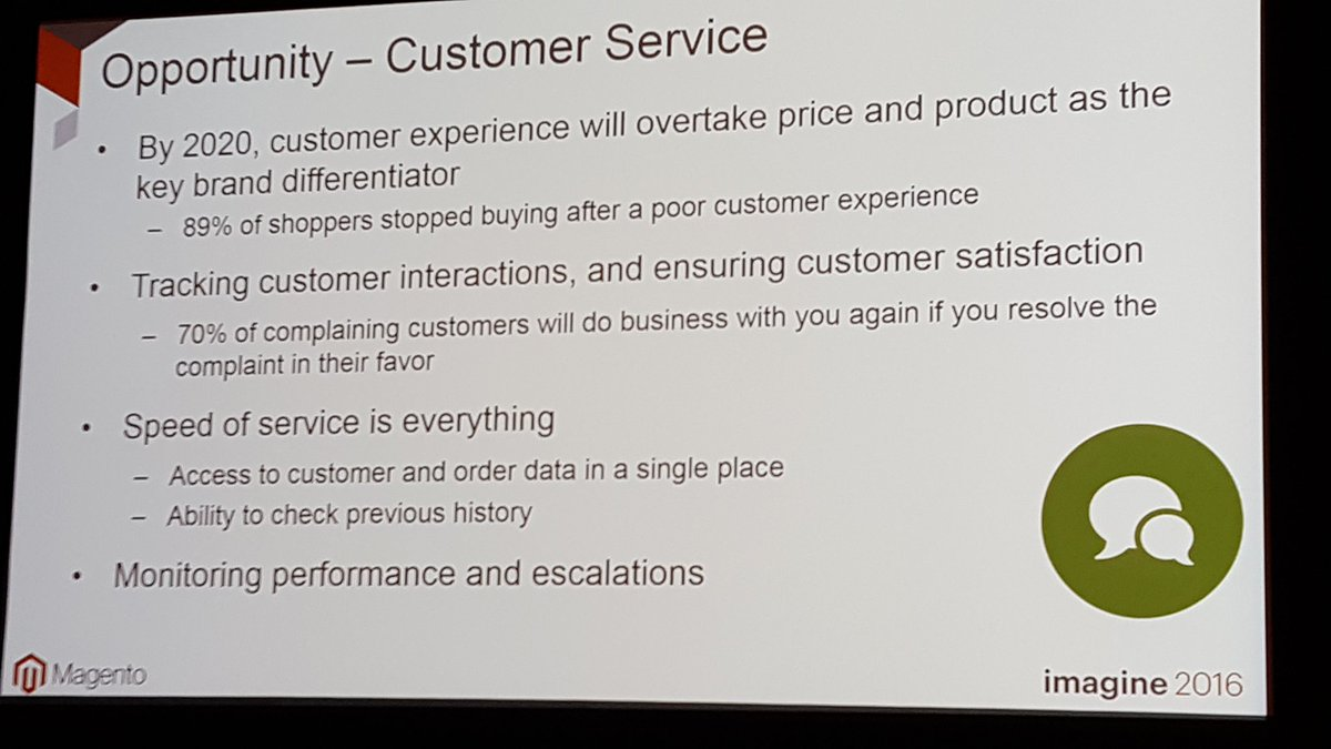 mgoldman713: 89% of buyers will stop buying after a poor customer experience. Utilize your ERP and CRM @janiali #MagentoImagine https://t.co/gXvRvkg28k