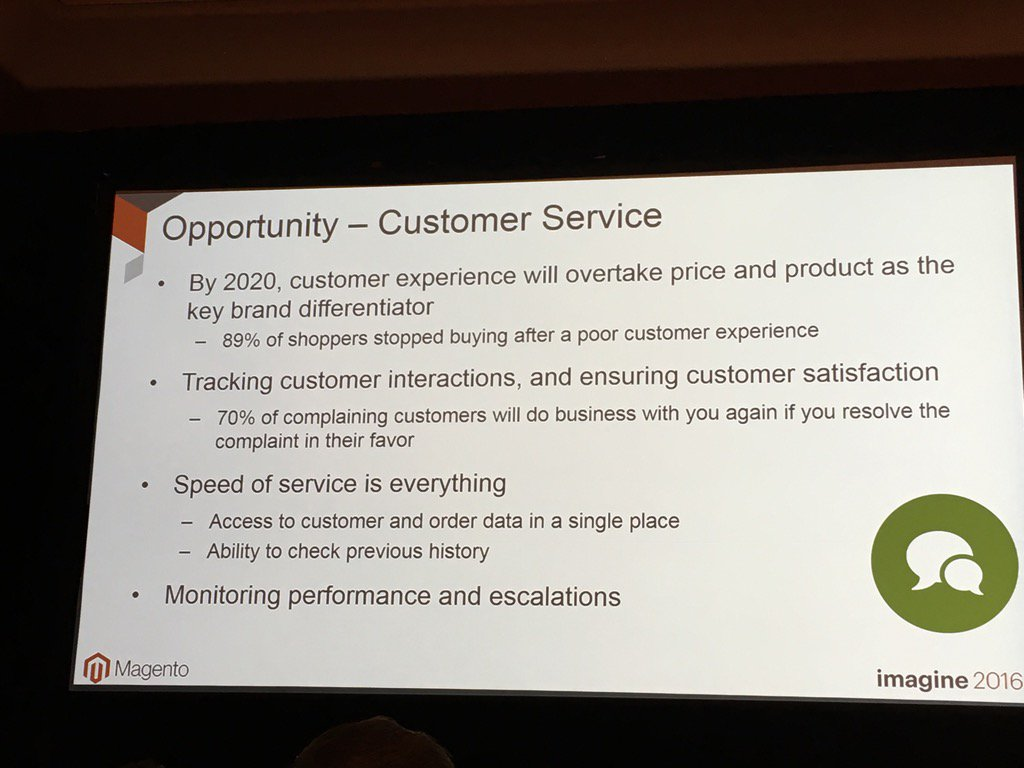 monsoonBharat: Importance of good customer experience #Imagine2016 #MagentoImagine https://t.co/DgbodalTMH