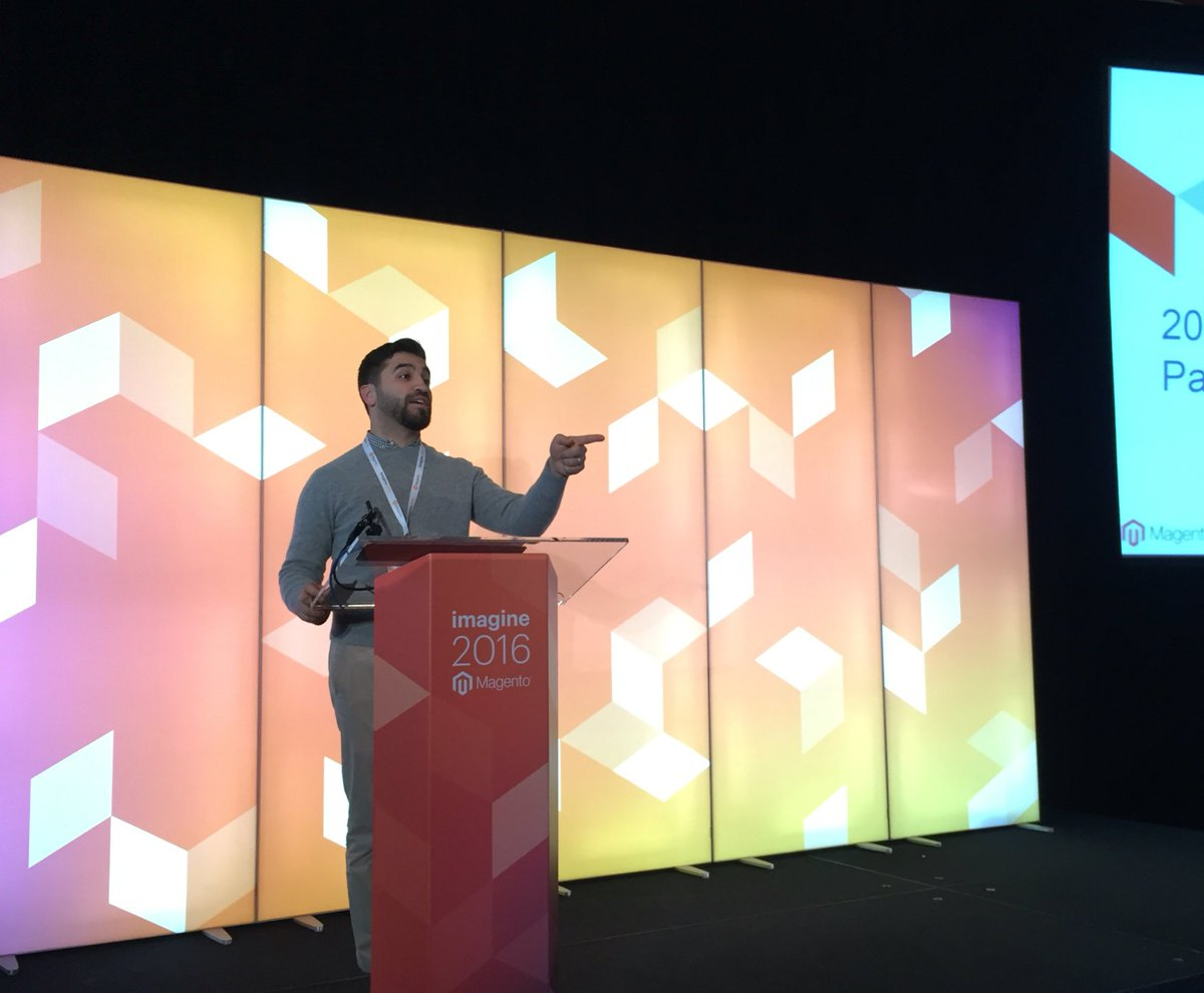 KFlogood: Check out my talk, 'Posing With My Designs In Empty Room', w/ guest: Lead Brand Designer @trink_dlp #MagentoImagine https://t.co/cF1TxxxYaY