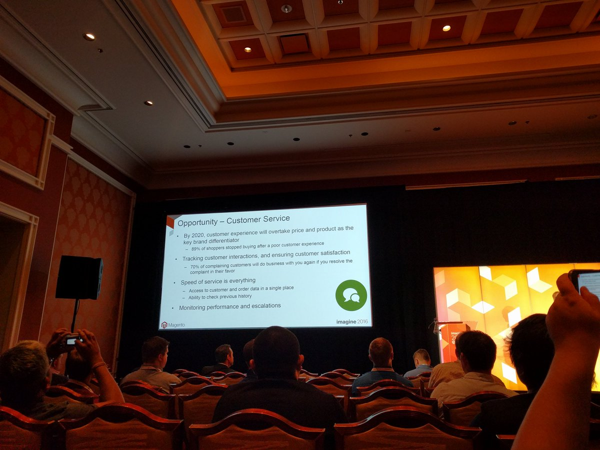 crduffy: The value of customer service #MagentoImagine https://t.co/s5wIs0TT2w