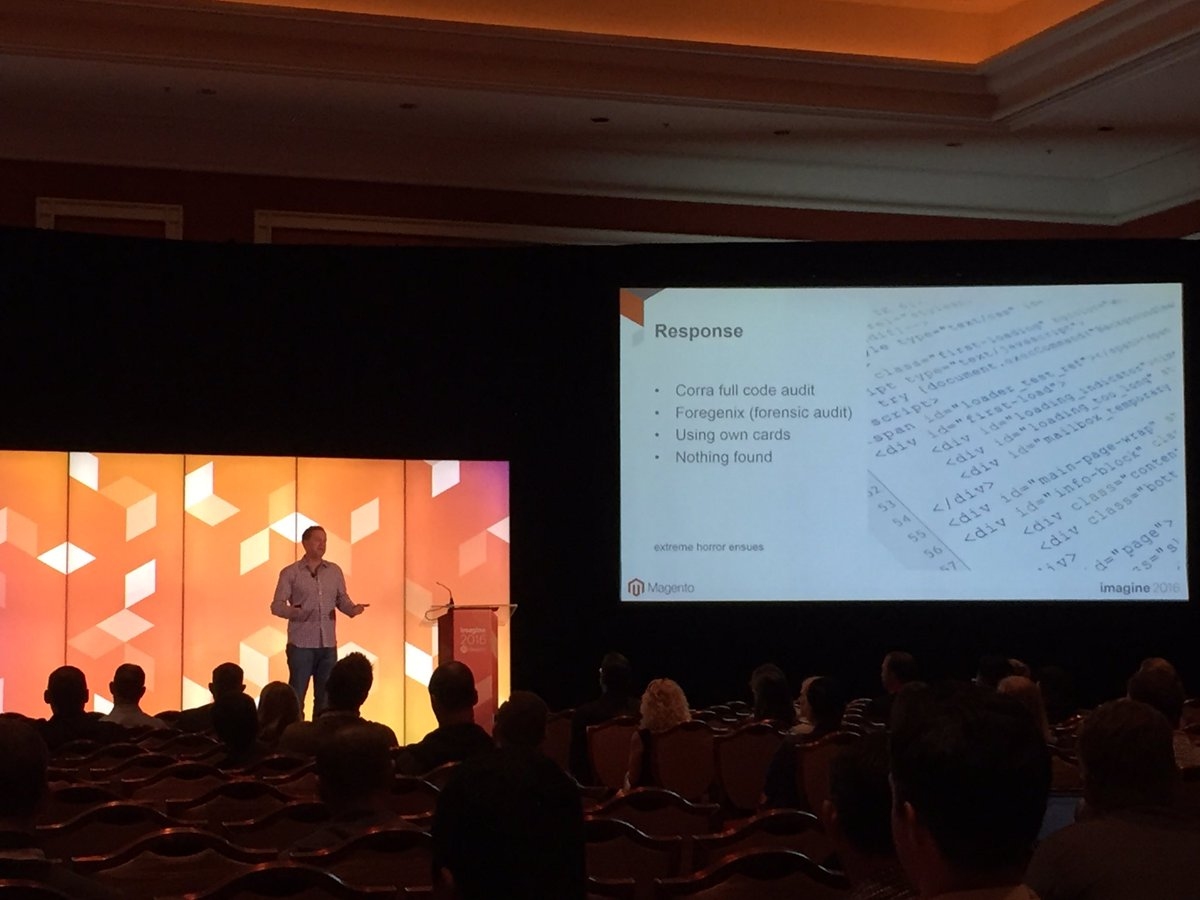 magento_rich: Was notified by Visa that the site could be compromised. After investigation, nothing was found. #MagentoImagine https://t.co/eix00Nkry0