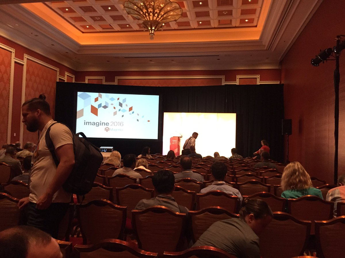 CalebRountree: Filling in the next break out room at #MagentoImagine. Talking about data based marketed and the voice of customers. https://t.co/JKShr1alJ0