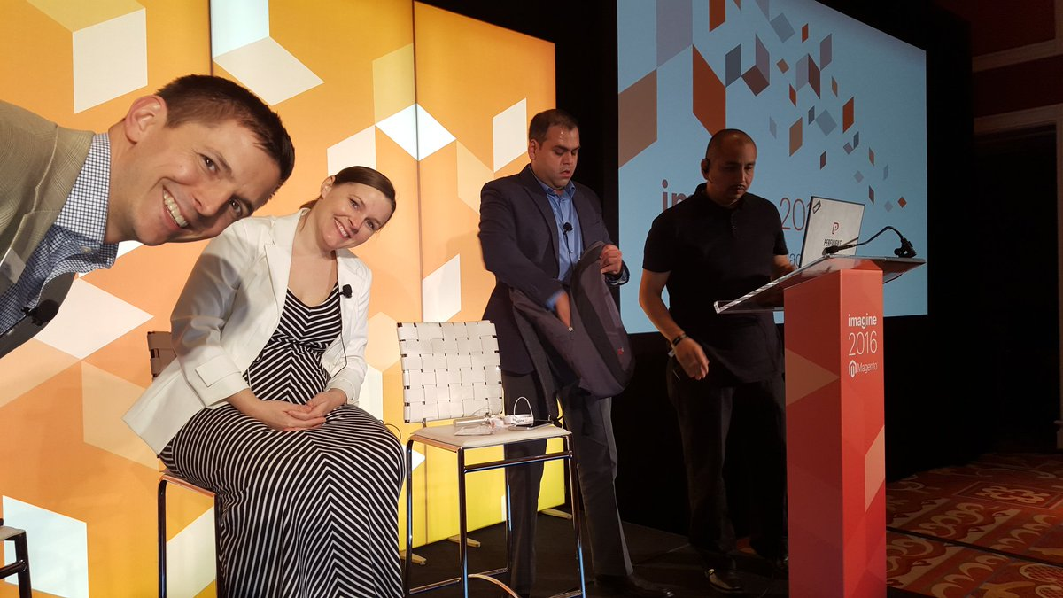 betz826: @_DavidHess, Ashley @LoomDecor and Kaushal Shah prep for the Perficient led session on Magento 2 #MagentoImagine https://t.co/q54KBt6ABN