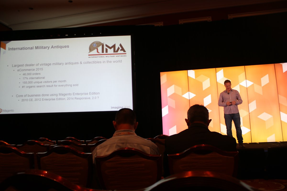vaimoglobal: Great presentation. #Magento Enterprise Success without an in-house team #MagentoImagine #Vaimo @IMA_USA https://t.co/1y9NEq0KdM