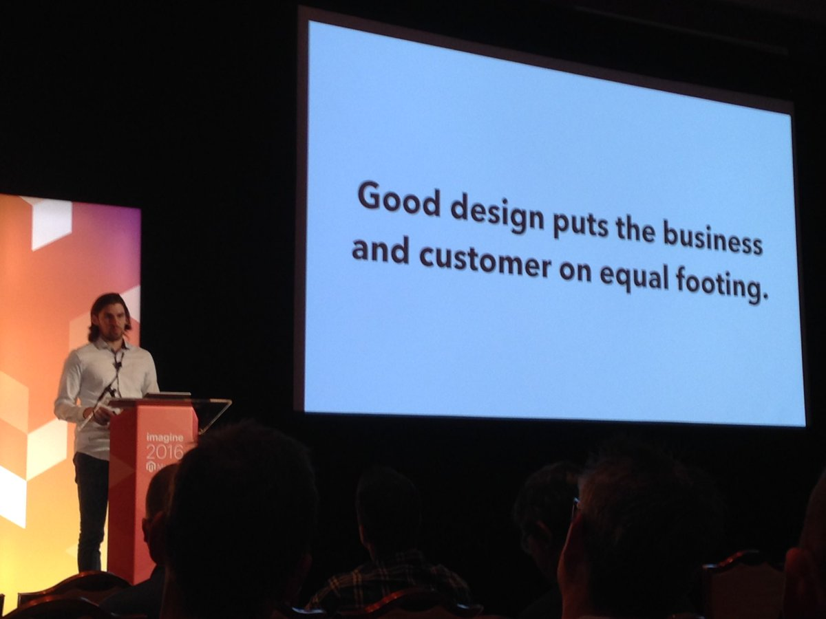 SheroDesigns: Good advice from @Falkowski #magentoimagine #webdesign #UX https://t.co/ZzqHp20CCz