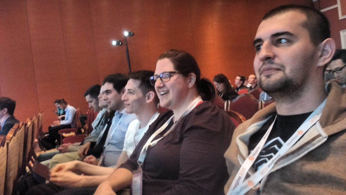 avstudnitz: Very attentive listeners in @_Talesh's talk about Owasp Top 10. #MagentoImagine https://t.co/Qaw1DlxCj5