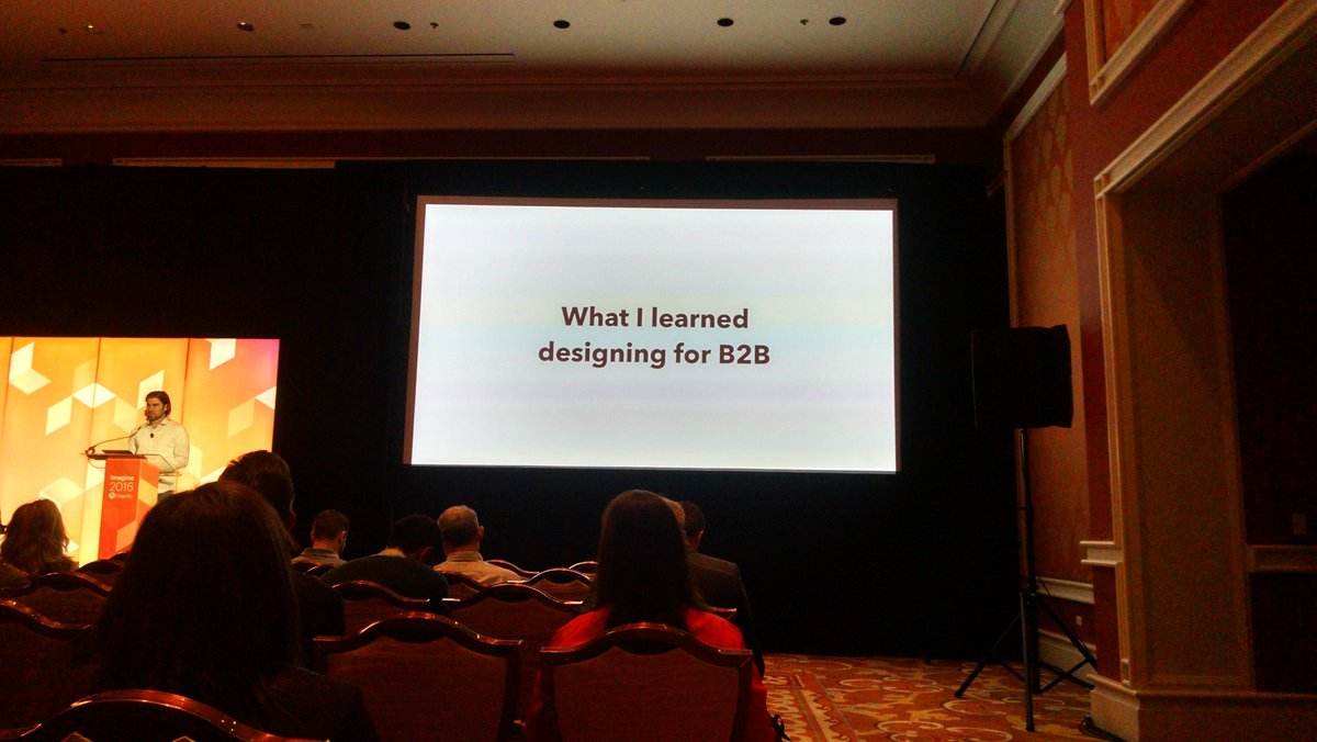 barbanet: @Falkowski starting his talk about design for B2B. #MagentoImagine https://t.co/gkarjGS0Bv