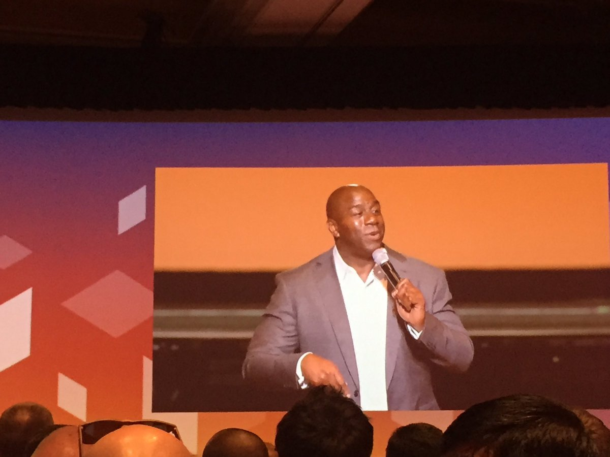 vaimoglobal: 'Never make a business about me or my life, but focus on the customer' @MagicJohnson #MagentoImagine #Vaimo https://t.co/zYriEoTH0O