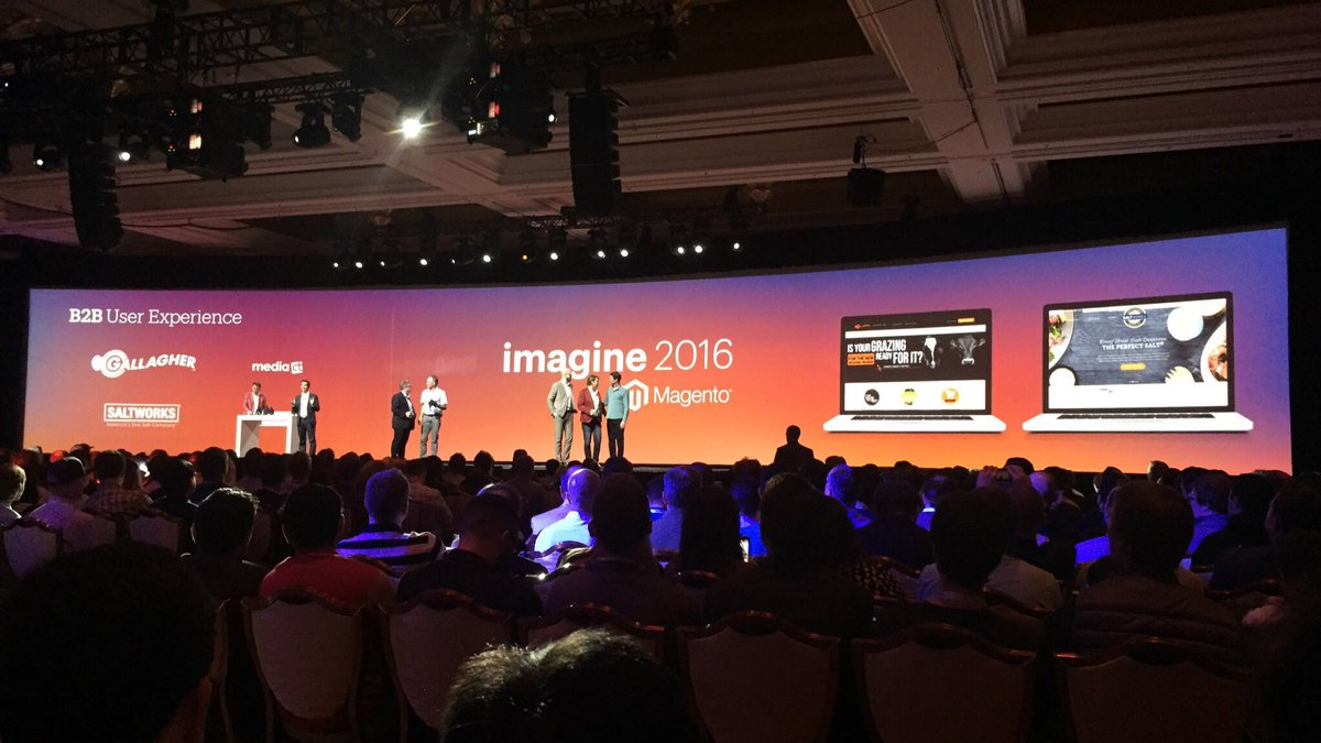 magento_ux: Congratulations to the winners of the Best B2B User Experience Award at #MagentoImagine Gallagher and @SaltWorksInc! https://t.co/ZdUNOm079A