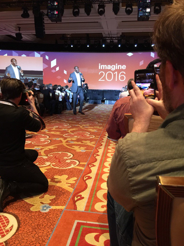 jjofriends: Magic Johnson is speaking at #MagentoImagine ! https://t.co/4BqX3aPyaQ
