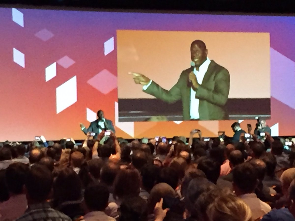 KFlogood: He's a damn legend! I'm shaking with giddiness!!! @MagicJohnson #MagentoImagine https://t.co/3SLgDs8nN6