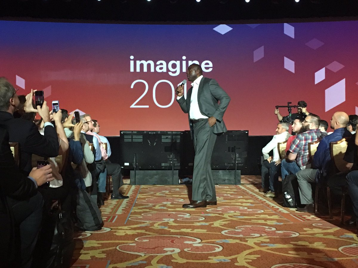 magento: The one and only @MagicJohnson #MagentoImagine https://t.co/R2BzZPH1LX