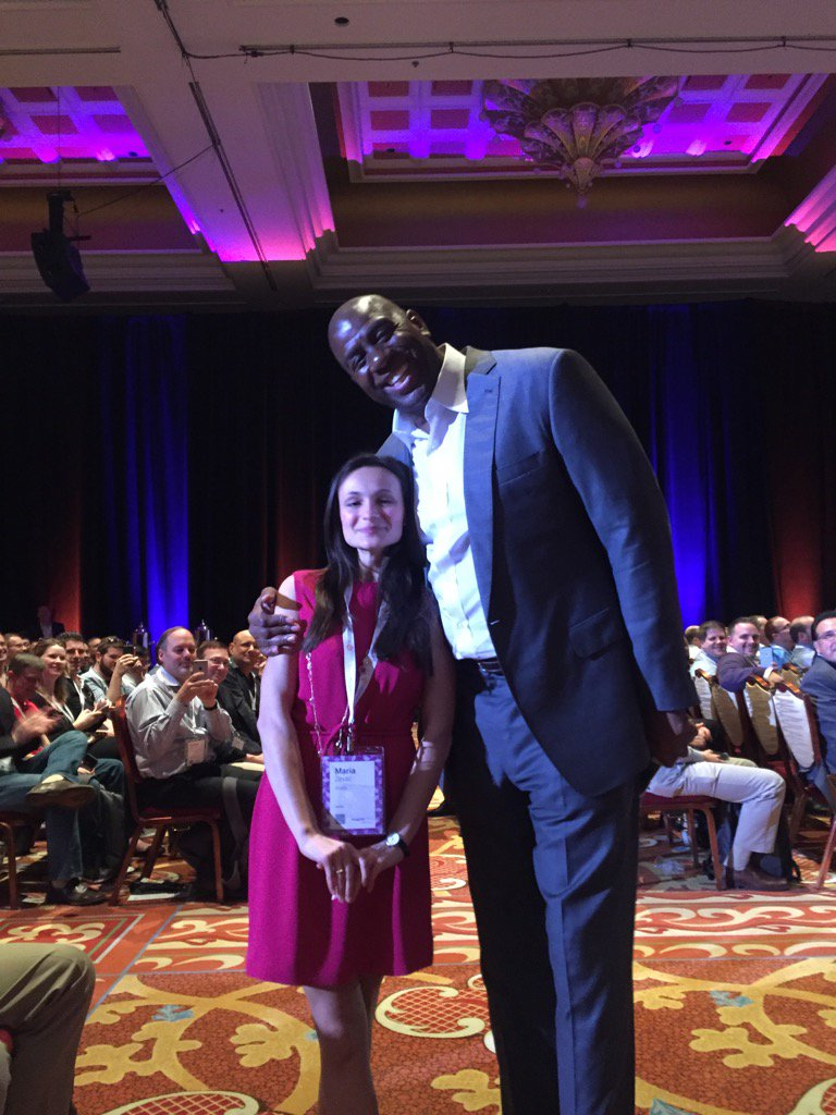atwixcom: .@MagicJohnson is telling his story to our Project Manager Maria at #MagentoImagine! https://t.co/5BRt51Dlt6