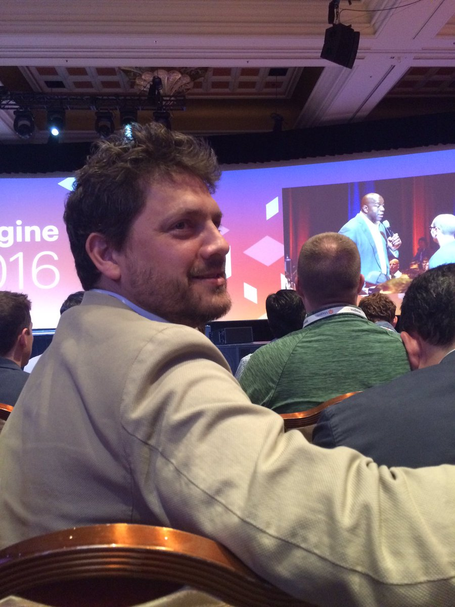 _Talesh: Look at the joy of El Capitan listening to @MagicJohnson at #MagentoImagine cc/@ignacioriesco https://t.co/fj4K54abfj