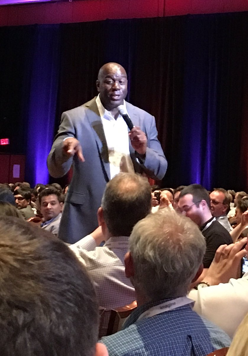 NostoSolutions: 'I pay attention to the details and still hate to lose' @MagicJohnson at #MagentoImagine https://t.co/QxvgOujkOh