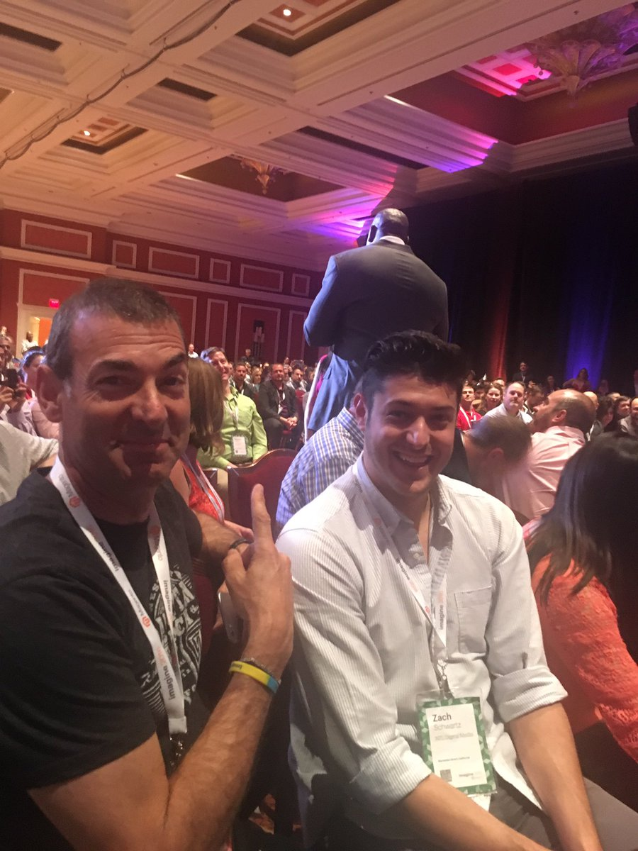 yairspitzer: @BobSchwartz and son right next to @MagicJohnson ... What a treat by the big man ! @magentoimagine @sessiondigital https://t.co/6Iws0PwG3A