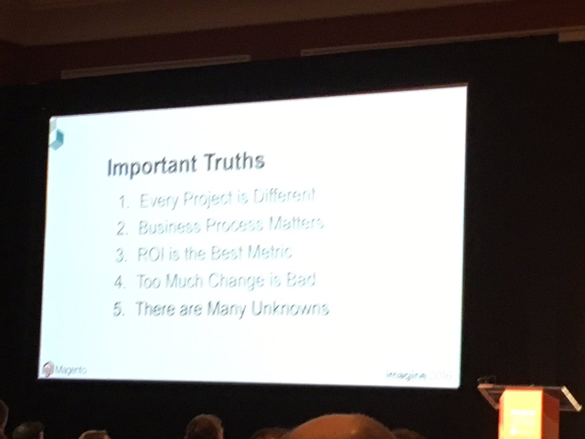 alexanderdamm: Requirements management truths #MagentoImagine https://t.co/7v0wuqzYkO