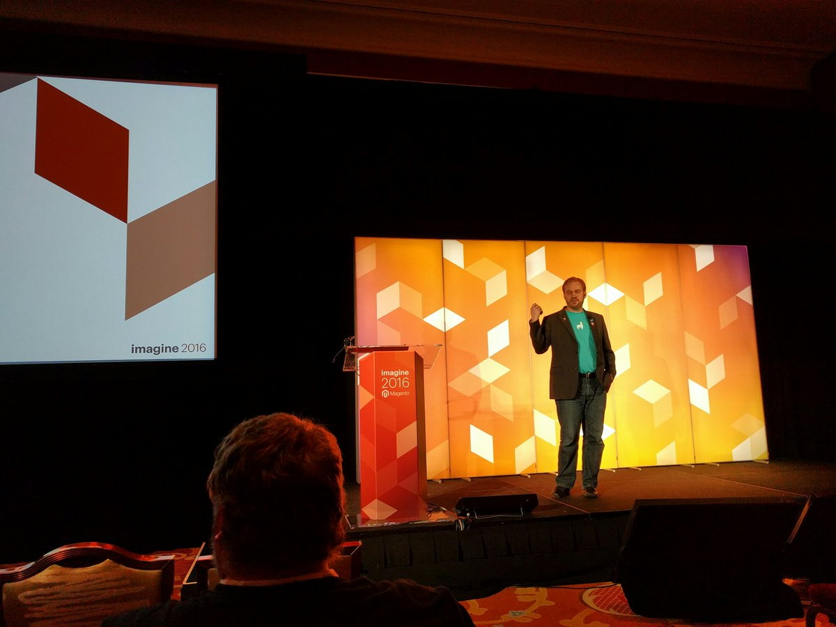 classyllama: Incredible session! Our very own @robtull speaking on the keys to a successful Magento project! #MagentoImagine https://t.co/Ib2pXdtX3B