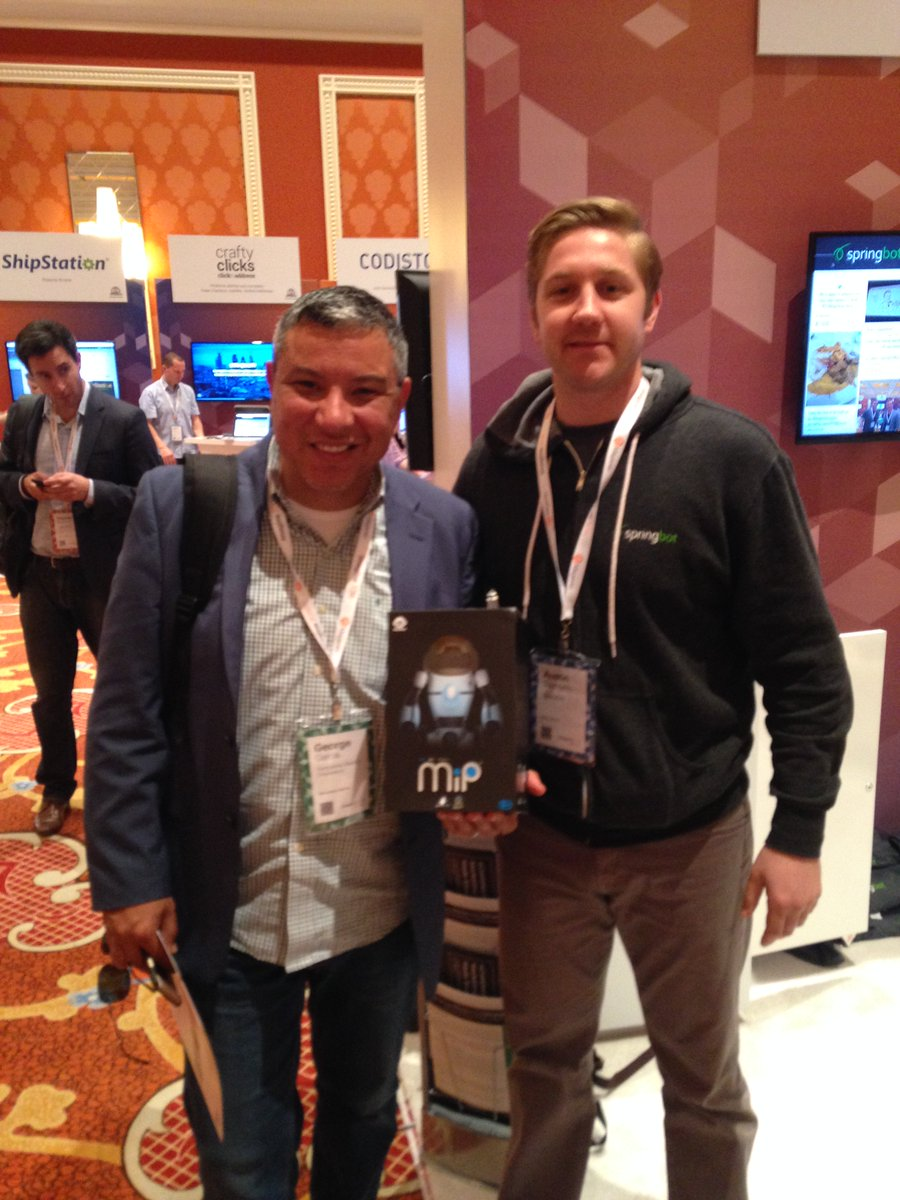 springbot: Thx for stopping by George from @cwcglobal. And congrats on your swag win. #MagentoImagine #UniteYourMarketing https://t.co/2nxUUA8Dv6