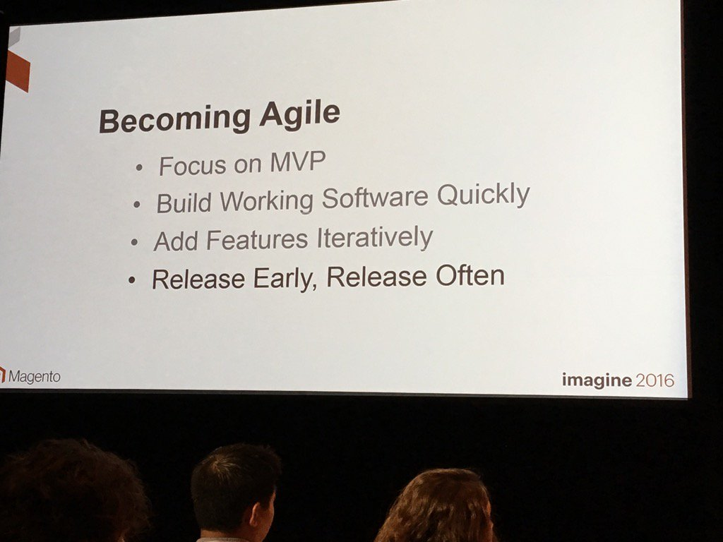jonathanmhodges: #MagentoImagine @robtull don't just do agile, be agile. https://t.co/KBuho6ULvJ