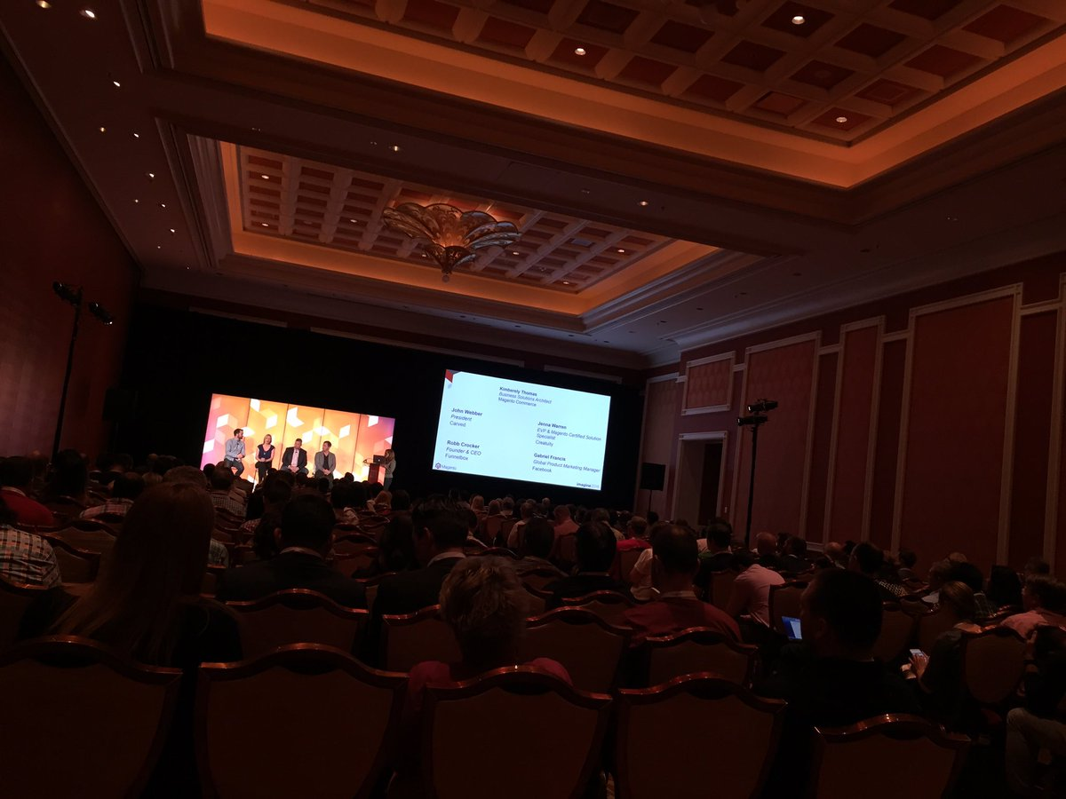 sherrierohde: Made it to Maximizing Social Media Opportunities to Enable Commerce Success! #MagentoImagine https://t.co/kh0odnRBsq