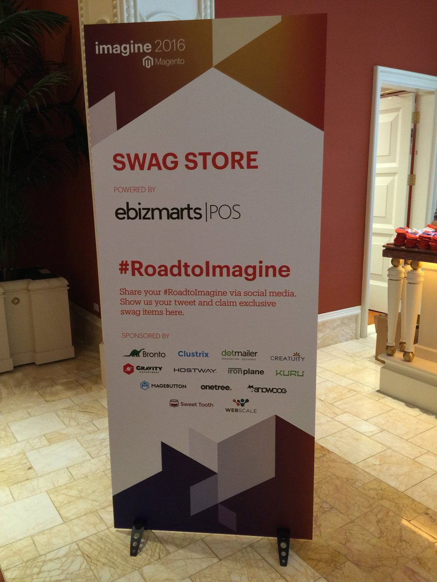 Creatuity: Have you stopped by the #MagentoImagine swag store yet? We're proud to sponsor their #RoadToImagine program! https://t.co/Fstjn0dCCP