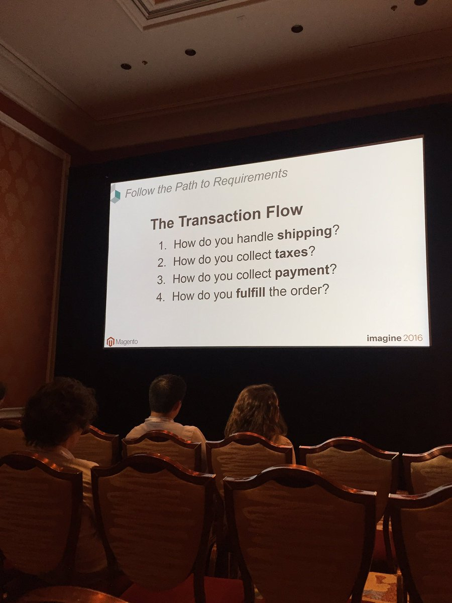 classyllama: More questions to develop a complete eCom build scope from @robtull.  #MagentoImagine https://t.co/BheT0tyP1k