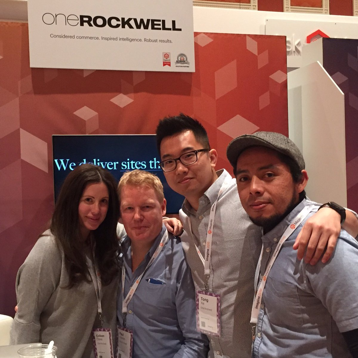 onerockwellny: Good times @ #MagentoImagine! Mara Hoffman & Juice Beauty prizes awarded for the day. Booth #219 tomorrow to win! https://t.co/1WhoMAdMR0